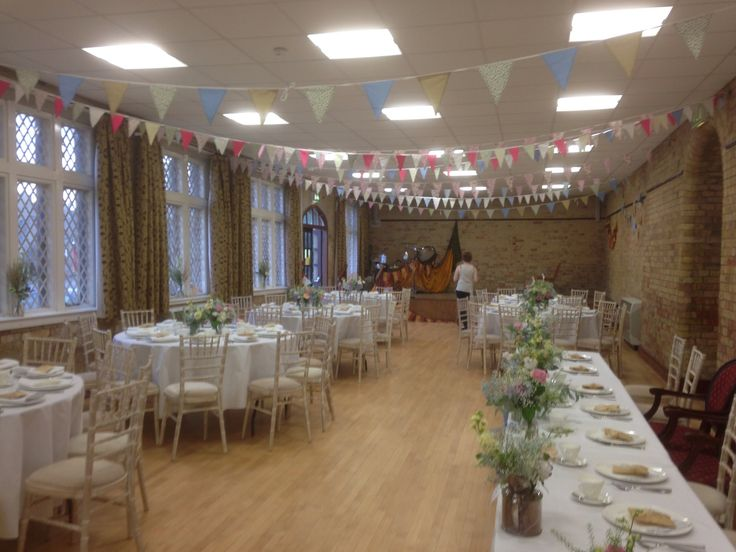 Bedford Hall, Thorney - Inside view, set up for a wedding!
