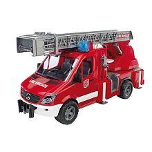 Bruder - Camion pompier lectronique Mercedes ATTENTION, c'est le cadeau réservé par la marraine de Cyprien pour Noël!