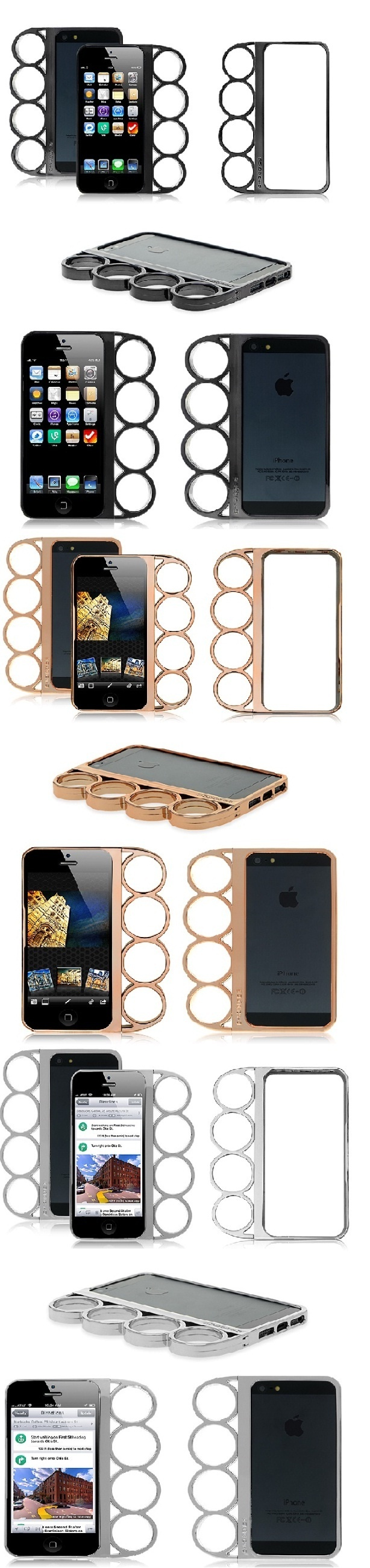 Rihanna's iPhone5 Knuckle Duster Black Silver or Gold Cover Case Knuckle Bumper for Apple iPhone 5 #cellz.com #rihanna #Knuckleduster #iphone5 #case #famous #singer #lucury #cover $6.43