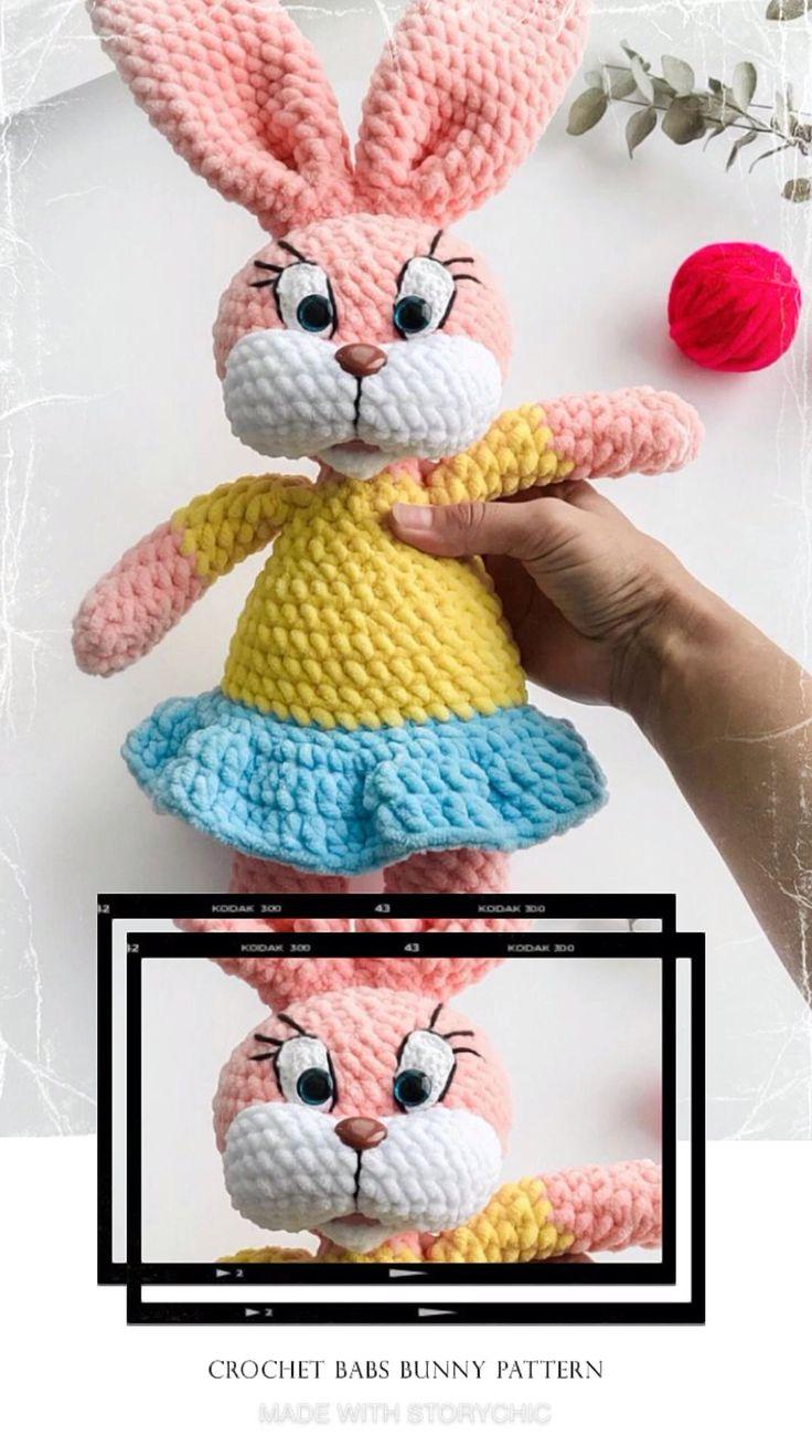 Tiny Toon Adventures Babs Bunny Crochet long eared bunny