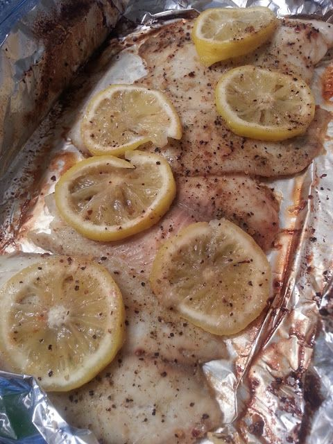 Sugar free like me easy foil baked talapia healthy for How to bake swai fish in foil