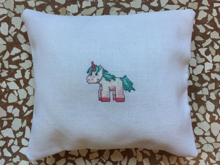UnicornPillow  #birthday #gift #unicorn #crossstitch #handmade #diy