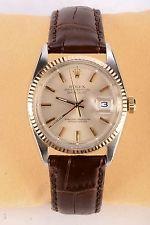 Vintage Rolex Oyster Perpetual Datejust 1601 dos tono oro rosa reloj de oro 1570