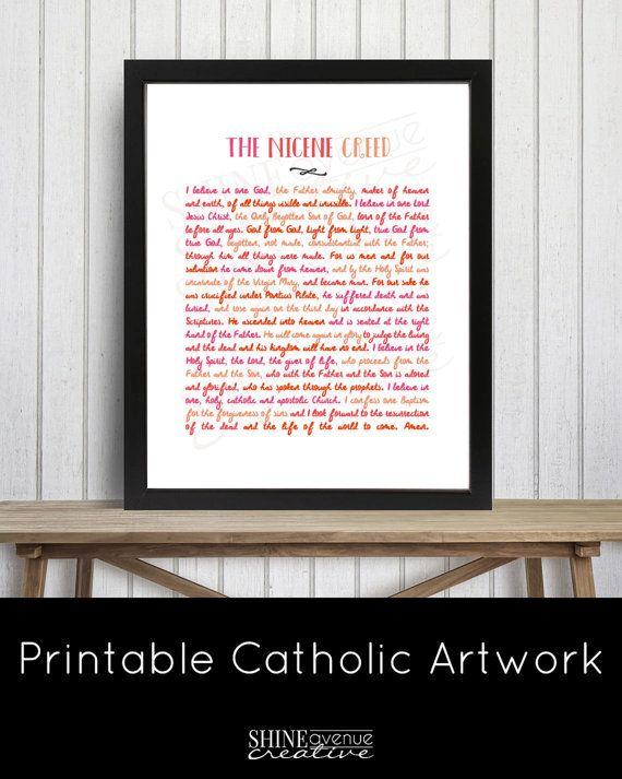 Nicene Creed Catholic Printable artwork  by ShineAvenueCreative …