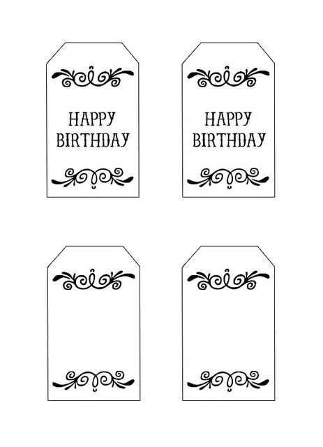 16 best birthday tags images on pinterest free printables free printable gift tags happy birthday me sew negle Image collections