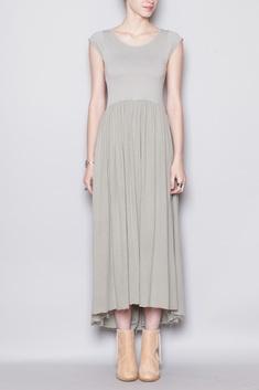 Black Crane Long Tee Dress (Sage)
