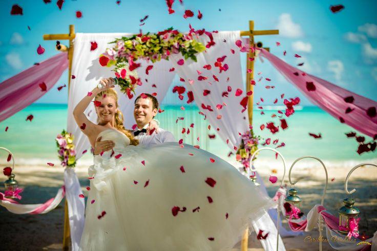 Wedding ceremony at Cap Cana beach http://wedding-caribbean.com