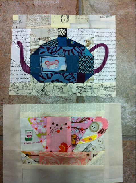Teapot & teacup quilt block