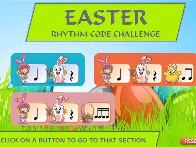 Easter Musical Rhythm Codes Interactive Module
