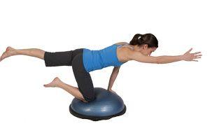 Bosu 4 Point Ab Exercise