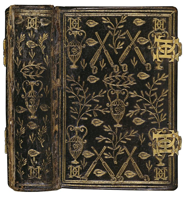 'Book of Hours of Catherine de Medici' Black morocco leather and plated enamel locks Binder unknown, 1565