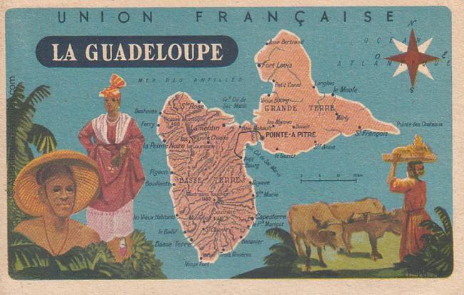 Carte de la Guadeloupe.