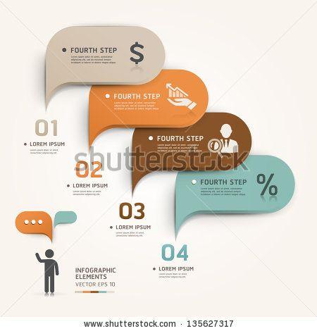 Modern business bubble speech template