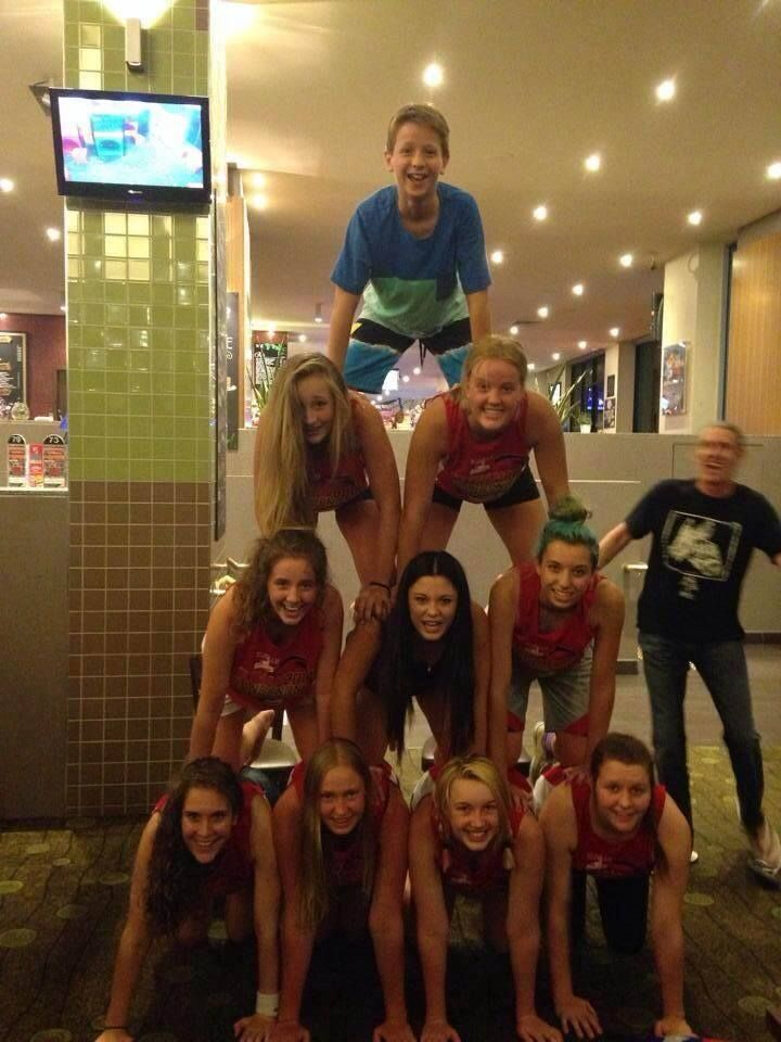 U/18 girls having fun in Eltham.