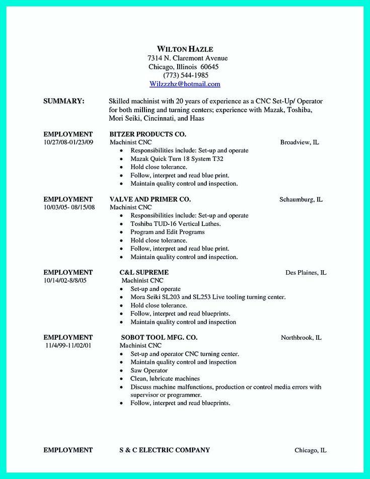 machinist resume template - Machinist Resume Template
