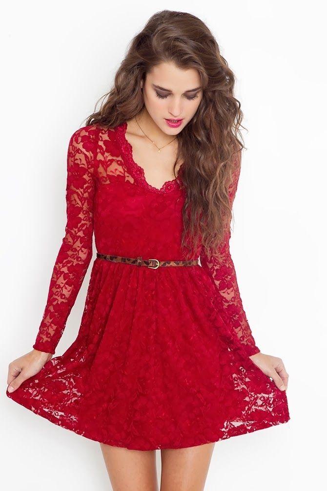 vestidos rojos de fiesta juveniles - Buscar con Google