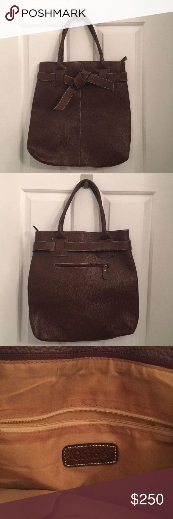 Chloe Tote Bag Gently-used brown leather tote bag Chloe Bags Totes