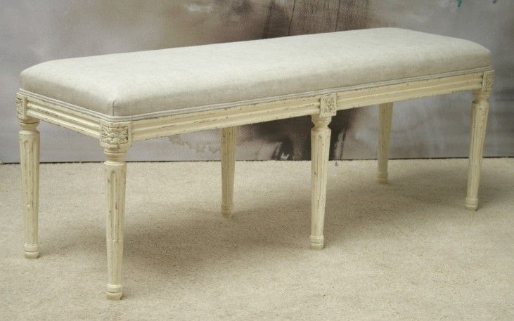 BH43: Boudoir Bench in Old Cream (1)