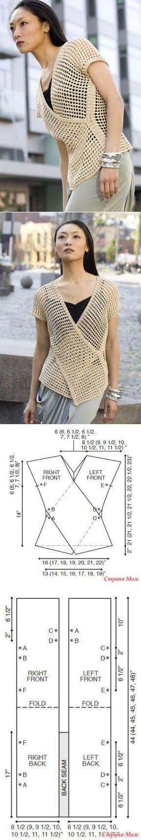 Love this Tunisian crochet mesh design Doris Chan did for Tahki Stacy Charles.