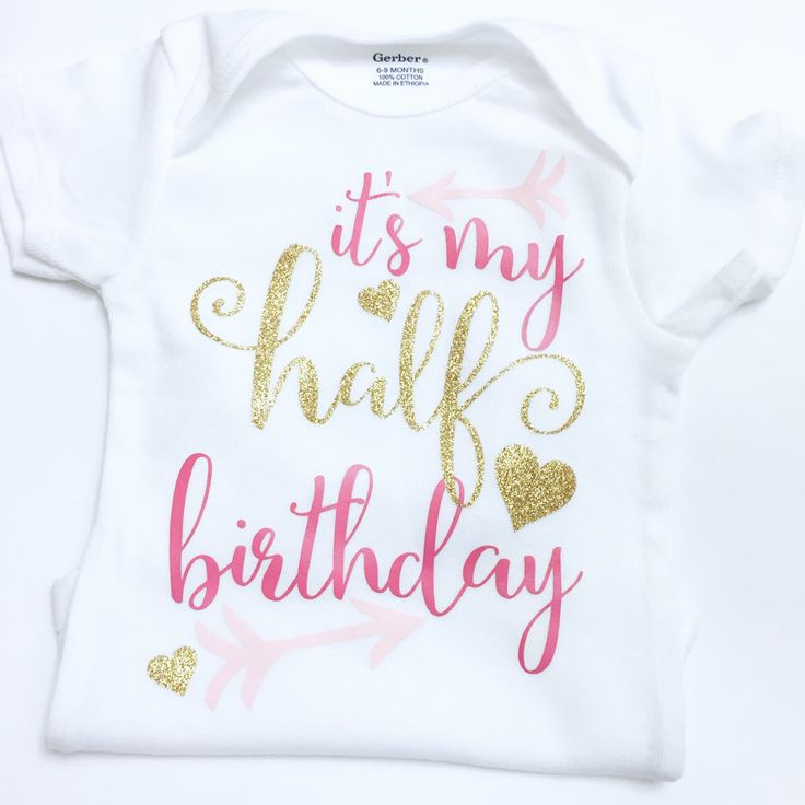 It's My Half birthday onesie, half birthday outfit, Half birthday girl, Half birthday, Birthday outfit, Birthday Onesie, ANY COLOR by kreationsbychristine on Etsy https://www.etsy.com/listing/252407029/its-my-half-birthday-onesie-half
