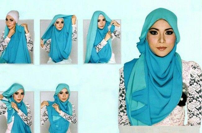 Beautiful evening hijab 2