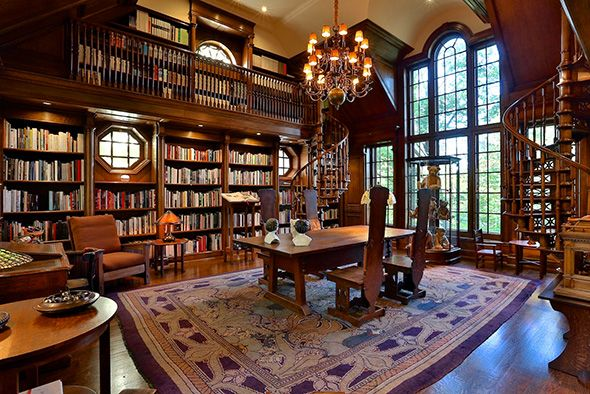 Beautiful #Toronto mansion - only $16 million and it's yours! #Canada #library