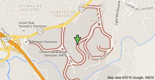 Mapa de Centro Vacacional, Centro, 62738 Oaxtepec, Mor.