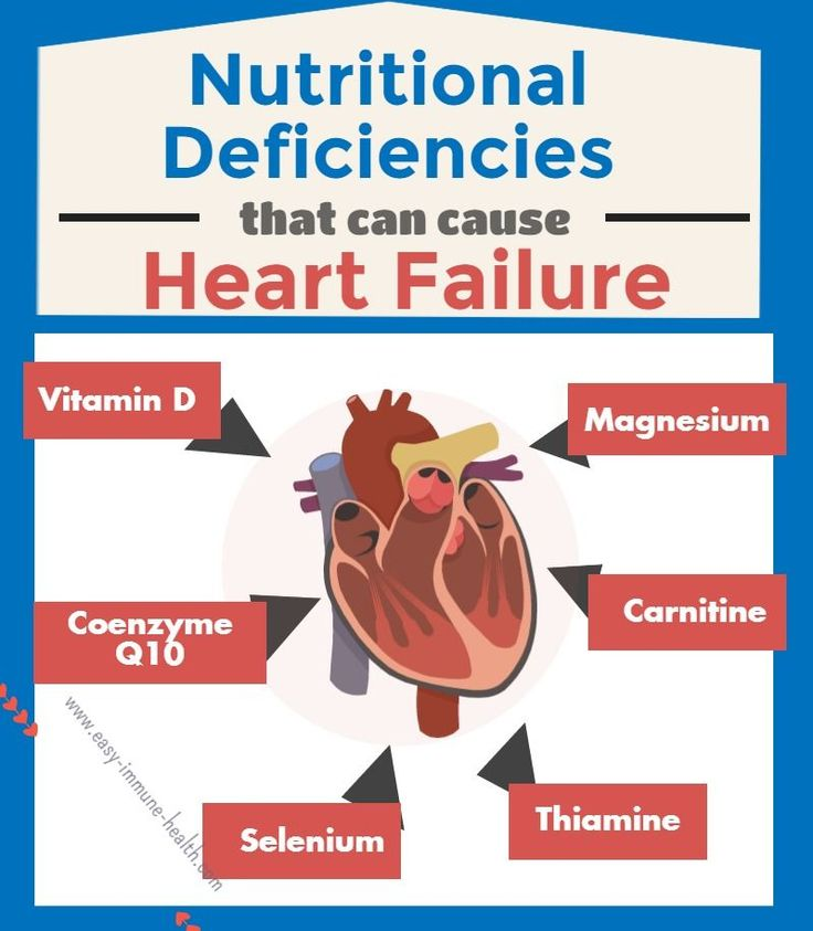 Nutritional causes of congestive heart failure are many and varied. Vitamin D, thiamine, magnesium, selenium and more can cause heart failure.   http://www.easy-immune-health.com/causes-of-congestive-heart-failure.html