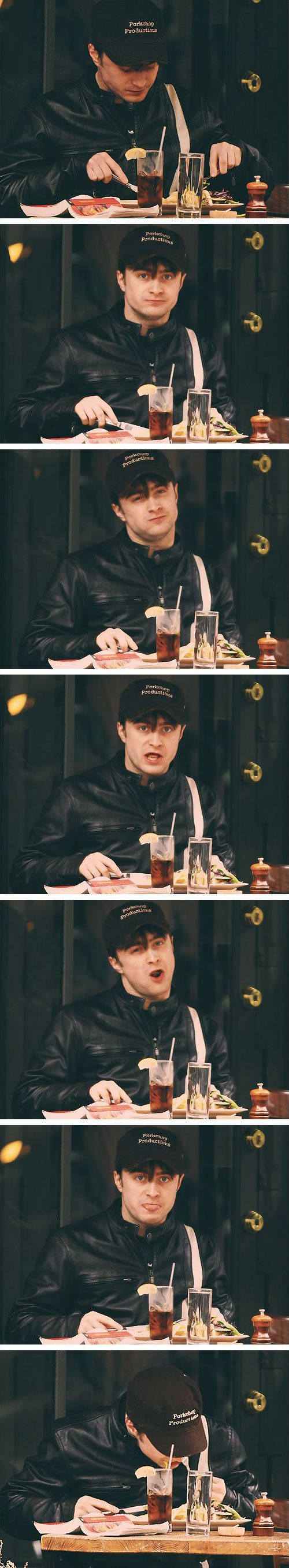 What happens when paparazzi catch Daniel Radcliffe eating…