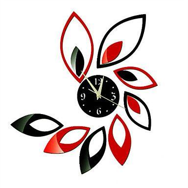 現代アートなモダン キャンバスアート 壁 壁掛け 時計  壁時計 スタイルの花のアクリルミラー【納期】お取り寄せ2~3週間前後で発送予定【fs04gm】ポイント【楽天市場】