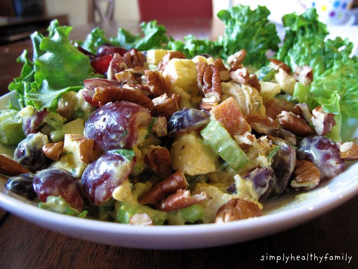 Simply Healthy Family: Summer Chicken Salad with Fruit
