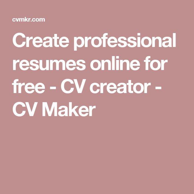 best 25 online cv maker ideas on pinterest online resume maker resume online maker
