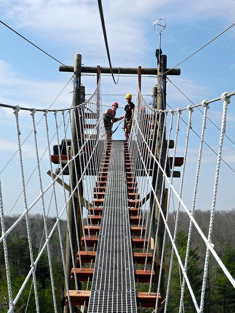 Which is scarier? Walking the bridges at Red River Gorge Ziplines or the actual ziplining?!   kentuckymonthly.com