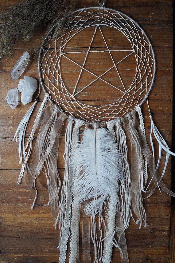 White Star Dream Catcher Gypsy Decor Witch by KRUELINTENTIONS
