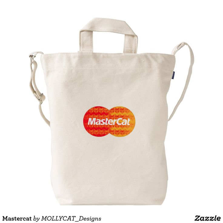 Mastercat Duck Bag Mollycat  @zazzle #mollycatfinland #cats #mastercat #muddle #catoftheday #catdesigns #catstyle #whitebags #bags #newlook #newstyles #streetwear #streetcool #urbancool #sick #zazzle #mastercard