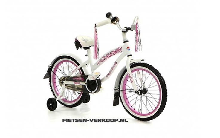 Meisjesfiets Beachcruiser Bela Wit 18 Inch | bestel gemakkelijk online op Fietsen-verkoop.nl