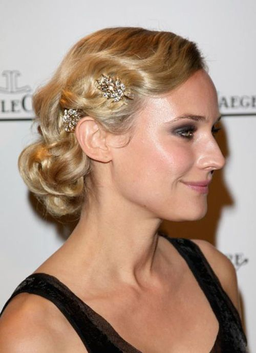 Bridesmaid Hair - love the water wave look - its a little more formal looking but could relax it up with a loose bun......
