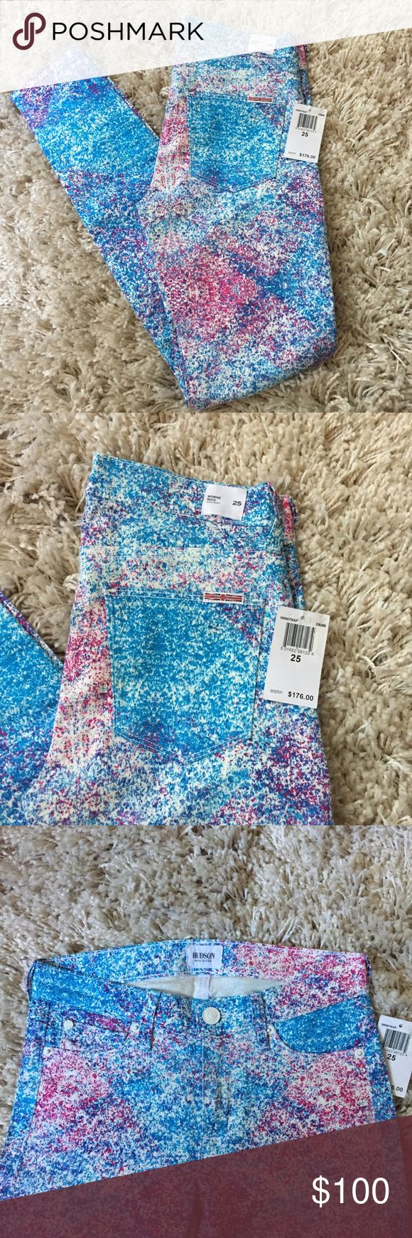 """🆕 Hudson Splatter Skinny 💕 + Inseam 28""""  + NWT  + Skinny fit 😍 + Dress up or down, perfect for fall🍂🍃  ⭐️All items are steamed cleaned and shipped within 48 hours of your purchase. ⭐️If you would like any additional photos or have any questions please let me know. ⭐️Sorry, no trades. But will listen to ALL fair offers. Thanks for shopping! Hudson Jeans Jeans Skinny"""