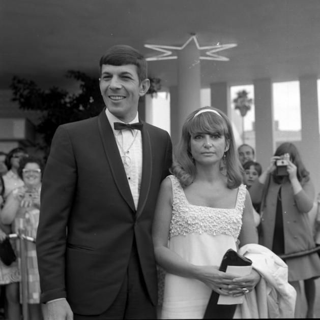Leonard Nimoy with wife Sandra Zober attend an event in Los Angeles, in 1966. (Earl Leaf/Michael Ochs Archives/Getty Images)