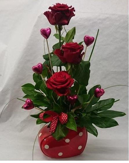 Valentine's rose arrangement