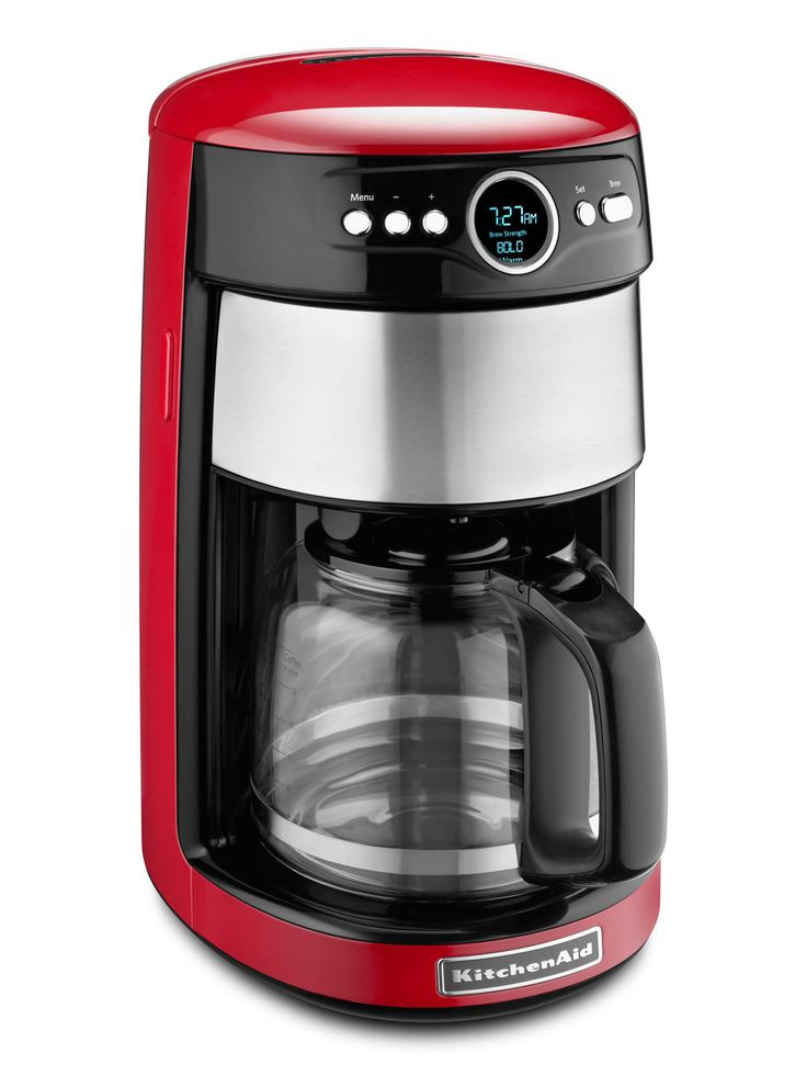 Empire Red Electric Home Coffee Maker Machine Personal Brewer Mug Compact Sleek