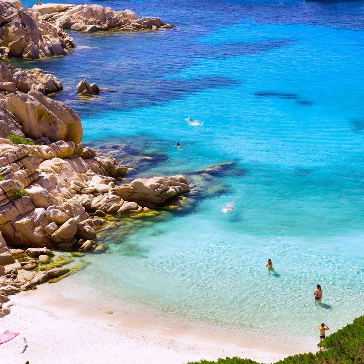 Cala Coticcio in Caprera on the Maddalena archipelago, Italy... ❄🌷