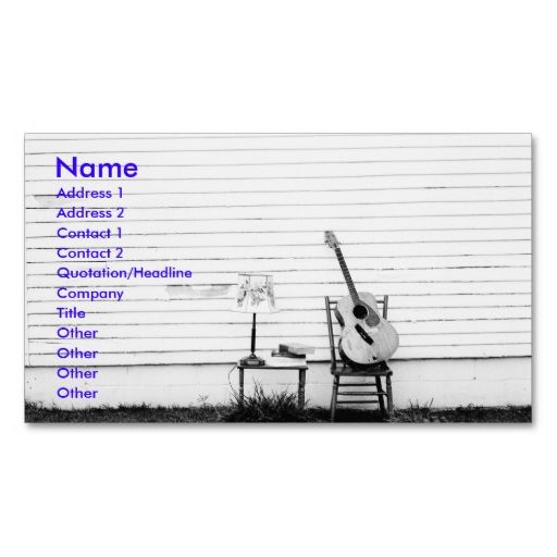 lonesome guitar music business card template
