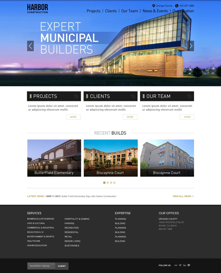 17 best images about construction websites on pinterest for Best architecture firm websites