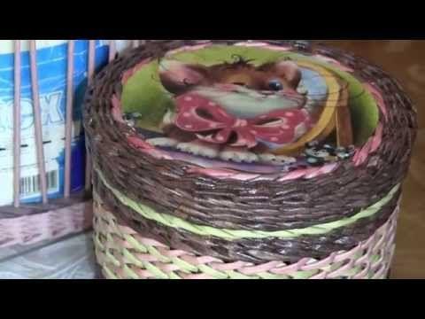 Плетение из газет - Просто о сложном. Узор «Рыбьи косточки»