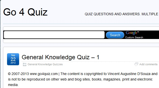 Quiz Questions and Answers, Trivia Quizzes, Pub Quizzes, General Knowledge Quiz Questions and Answers, Free Quiz Questions and Answers >> Go 4 Quiz --> www.go4quiz.com/11/general-knowledge-quiz-questions-and-answers