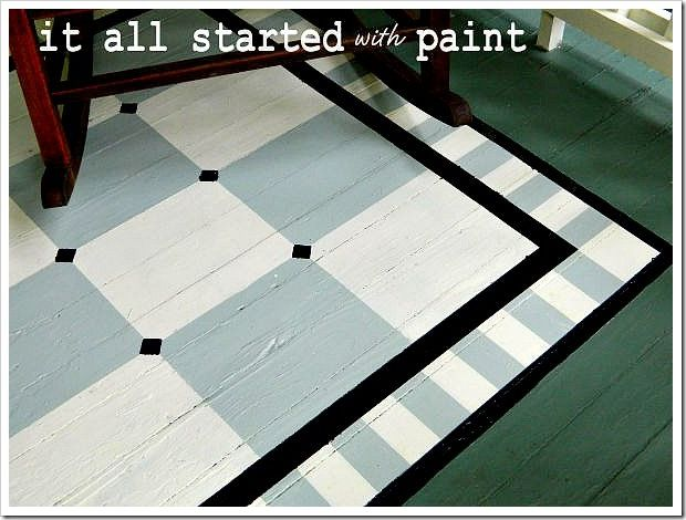 Another painted rug. Love this idea but she did a lot of work! She explains how she did it.