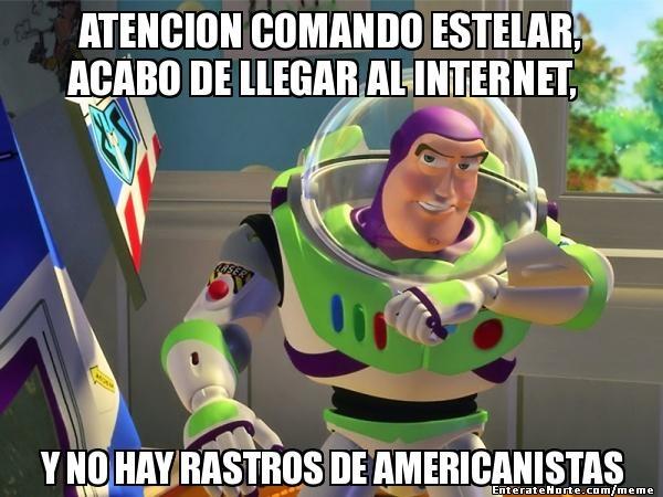 Atencion Comando Estelar, acabo de llegar al Internet, Y no hay rastros de Americanistas