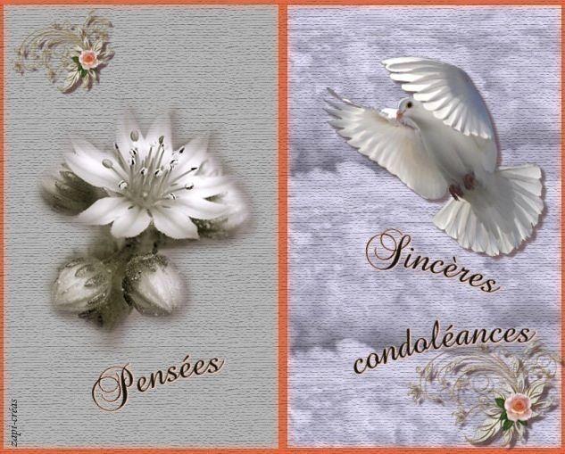 Carte De Condoleances A Imprimer Ou Envoyer Carte Condoleances