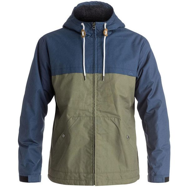 Quiksilver Men's Wanna Block Jacket Blue Jackets M ($88) ❤ liked on Polyvore featuring men's fashion, men's clothing, men's outerwear, men's jackets, blue, mens blue jacket, mens blue leather jacket, mens jackets and mens leather jackets